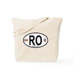 Romania Intl Oval Tote Bag