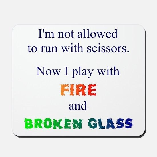 Fire And Broken Glass Mousepad