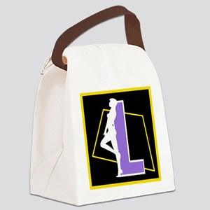 Naughty Initial Design (L) Canvas Lunch Bag