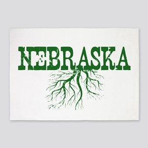 Nebraska Roots 5'x7'Area Rug