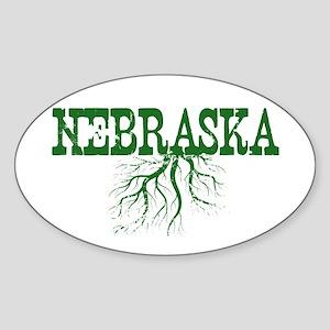 Nebraska Roots Sticker (Oval)