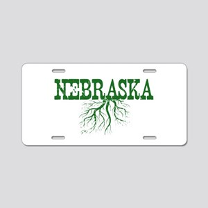 Nebraska Roots Aluminum License Plate