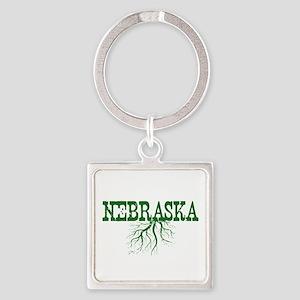 Nebraska Roots Square Keychain