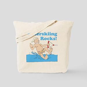 Waterskiing Rocks Tote Bag