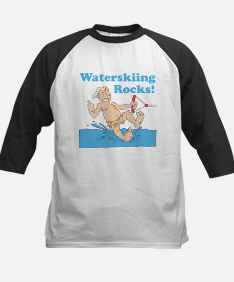 Waterskiing Rocks Kids Baseball Jersey