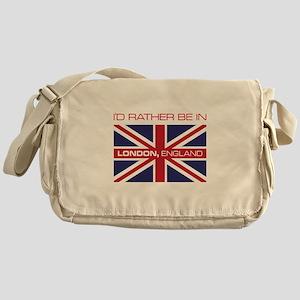 I'd Rather Be In London,England Messenger Bag