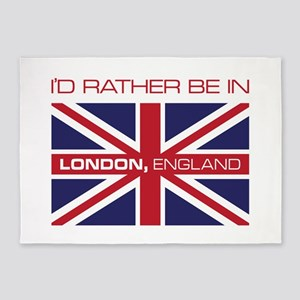 I'd Rather Be In London,England 5'x7'Area Rug