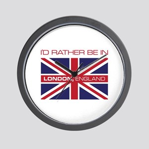 I'd Rather Be In London,England Wall Clock