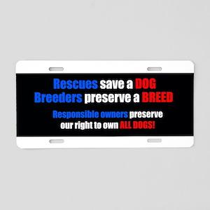BreederBumper Aluminum License Plate