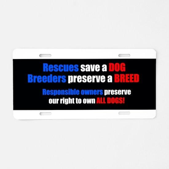BreederBumper.jpg Aluminum License Plate