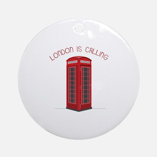 London is Calling Ornament (Round)