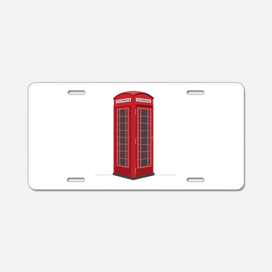 London Phone Booth Aluminum License Plate