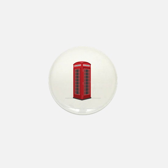 London Phone Booth Mini Button