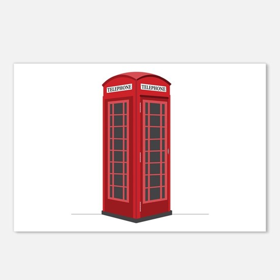 London Phone Booth Postcards (Package of 8)