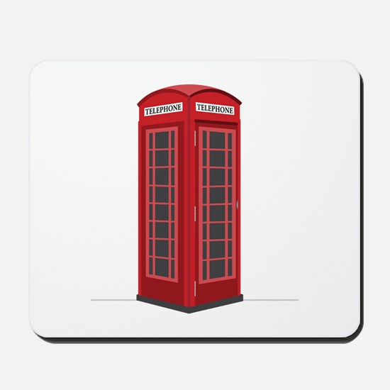 London Phone Booth Mousepad