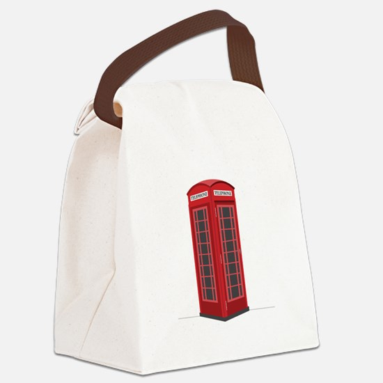 London Phone Booth Canvas Lunch Bag