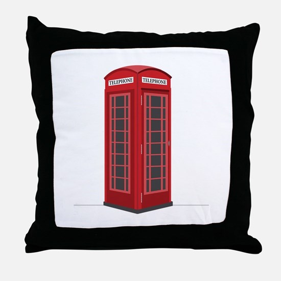 London Phone Booth Throw Pillow