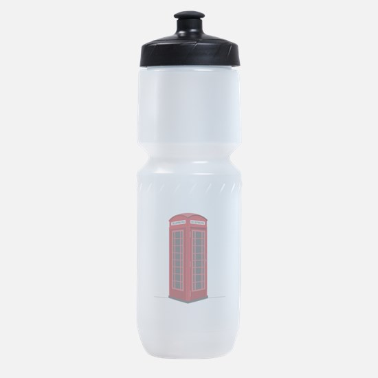 London Phone Booth Sports Bottle