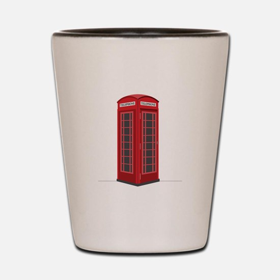 London Phone Booth Shot Glass