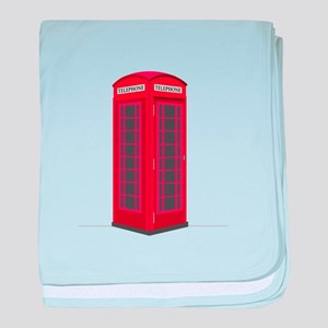 London Phone Booth baby blanket