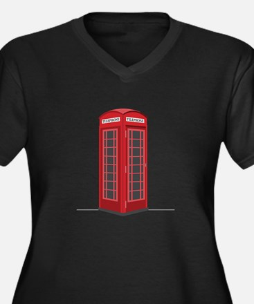 London Phone Booth Plus Size T-Shirt