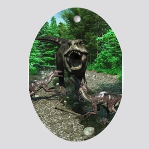 Tyrannosaurus Rex 4 Ornament (Oval)