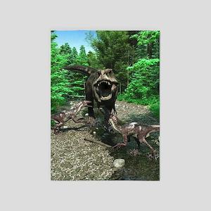 Tyrannosaurus Rex 4 5'x7'Area Rug