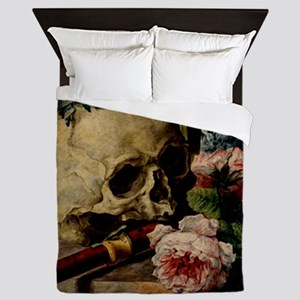 Vintage Skull Queen Duvet