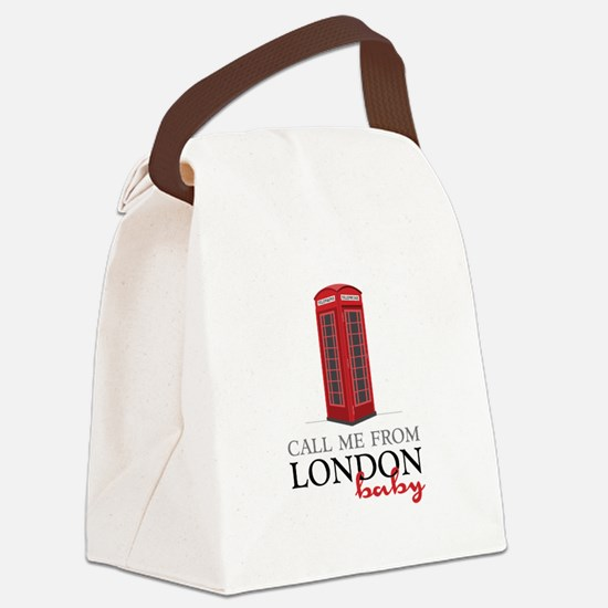 Call Me From London Canvas Lunch Bag