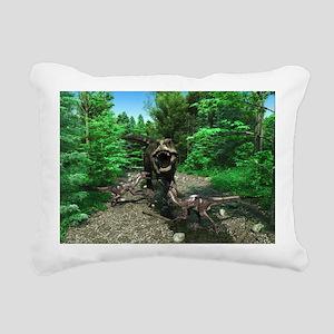 Tyrannosaurus Rex 4 Rectangular Canvas Pillow