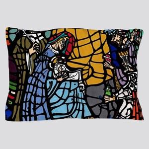 Stain Glass Nativity Pillow Case