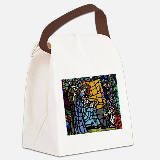 Stain Glass Nativity Canvas Lunch Bag