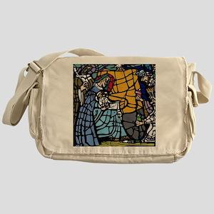 Stain Glass Nativity Messenger Bag