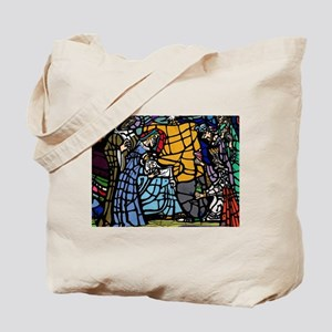 Stain Glass Nativity Tote Bag