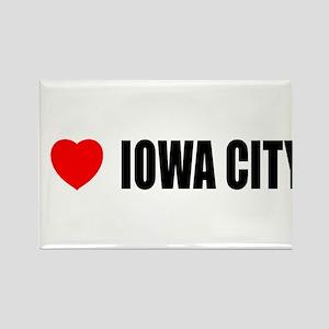 I Love Iowa City Rectangle Magnet