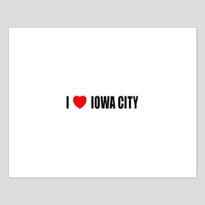 I Love Iowa City Small Poster