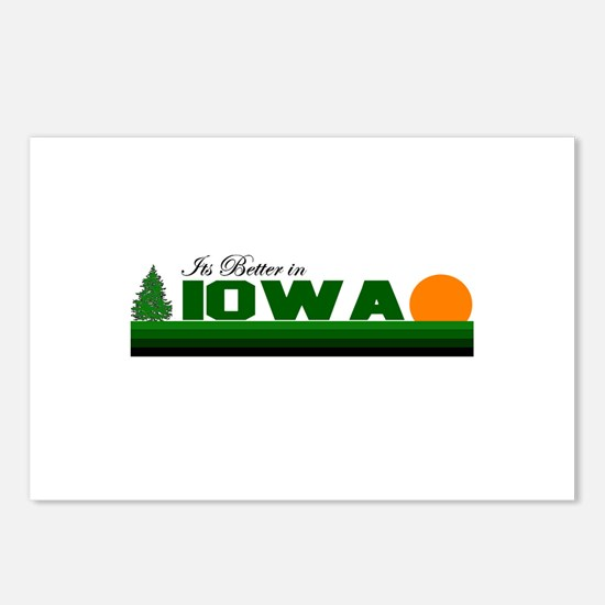 Its Better in Iowa Postcards (Package of 8)