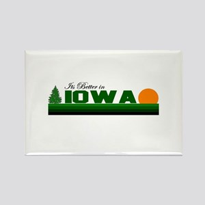 Its Better in Iowa Rectangle Magnet