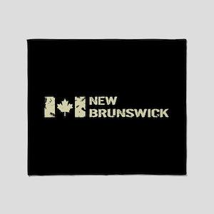 Canadian Flag: New Brunswick Throw Blanket