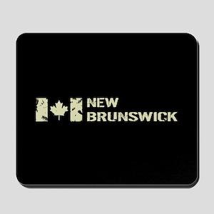 Canadian Flag: New Brunswick Mousepad