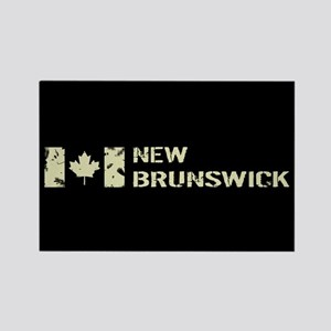 Canadian Flag: New Brunswick Rectangle Magnet