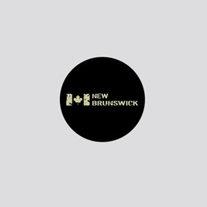 Canadian Flag: New Brunswick Mini Button