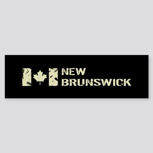 Canadian Flag: New Brunswick Sticker (Bumper)