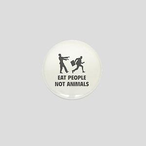 Eat people not animal Mini Button