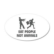 Eat people not animal 22x14 Oval Wall Peel