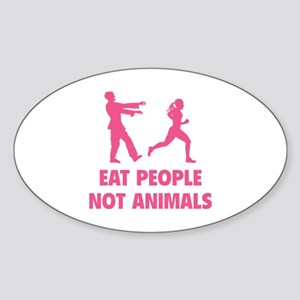Eat people not animal Sticker (Oval)