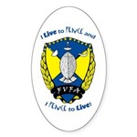 Live to Fence Oval Sticker