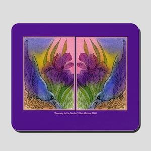 CROW and Iris Garden Mousepad