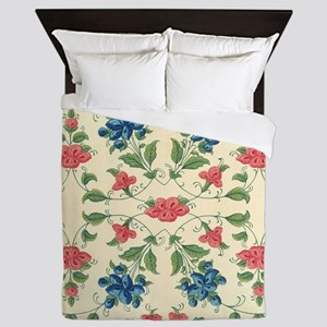 Beautiful Vintage Flora Design Queen Duvet