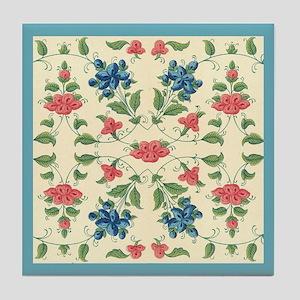 Absolutely beautiful Vintage Flora Design Tile Coa
